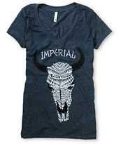 Imperial Motion Girls Desert Trip Navy V-Neck Tee Shirt