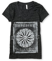 Imperial Motion Girls Moving Forward Charcoal V-Neck Tee Shirt