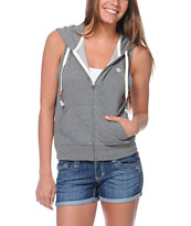 Element Girls Playlist Grey Zip Vest