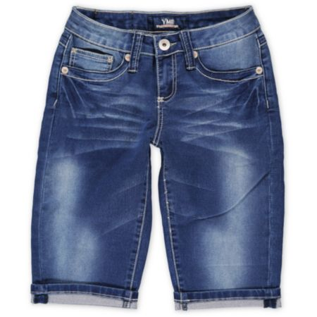 YMI June Blue Denim Bermuda Shorts