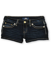 YMI Minka Dark Wash Denim Shorts