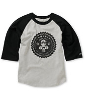 Trukfit Boys Lil Tommy Seal Grey & Black Baseball Tee Shirt