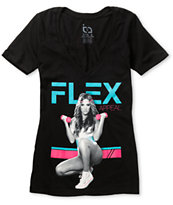 TMLS Girls Flex Appeal Black V-Neck Tee Shirt
