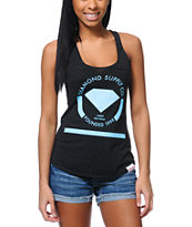 Diamond Supply Girls I Shine You Shine Charcoal Tank Top