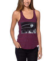 Diamond Supply Girls Clarity Crimson Racerback Tank Top