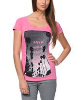 Glamour Kills Limitless Pink Scoop Neck Tee Shirt