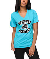 Crooks And Castles Girls Air Gun Ace V-Neck Tee Shirt