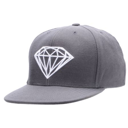 Diamond Supply Brilliant Grey Strapback Hat