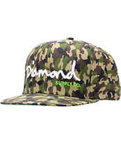 Diamond Supply OG Logo Camo Snapback Hat