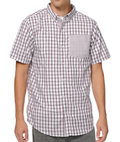 Dravus Observer White & Red Plaid Short Sleeve Button Up Shirt