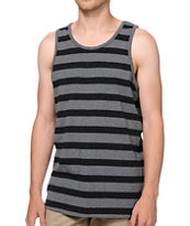 Empyre Funfetti Black & Grey Striped Tank Top