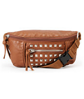T-Shirt & Jeans Brown Studded Fanny Pack