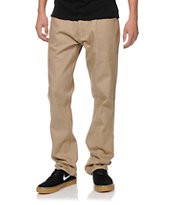 Free World Night Train Khaki Denim Regular Fit Jeans