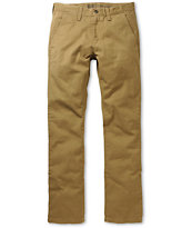 Free World Drifter Dark Khaki Slim Straight Fit Chino Pants
