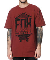 Fox Summit Burgundy Tee Shirt