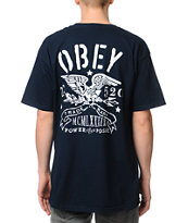 Obey Trademark Eagle Navy Tee Shirt