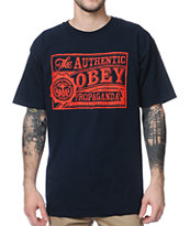 Obey Authentic Navy Tee Shirt