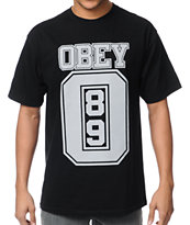 Obey Jersey Black Tee Shirt