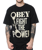 Obey Fight The Power Black Tee Shirt
