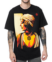 Obey Harmony Black Tee Shirt