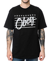 Obey Nine Nickel Black Tee Shirt