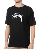 Stussy Stock Black Tee Shirt