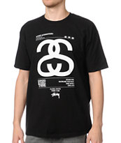 Stussy Global Black Tee Shirt