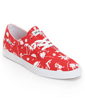 Huf Province Red Hawaii Canvas Skate Shoe