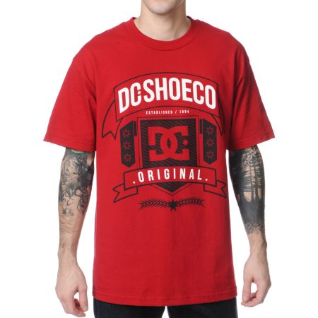 DC Industry Dark Red Tee Shirt