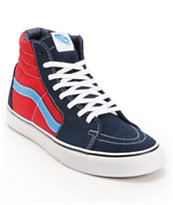 Vans Sk8 Hi Dress Blues & Chilli Pepper Skate Shoe
