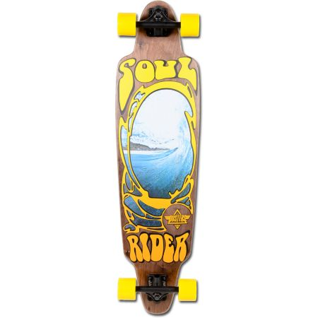 Dusters Soul Rider Brown & Yellow Longboard Complete