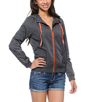 Empyre Girls Chelsea Grey & Coral Windbreaker Jacket