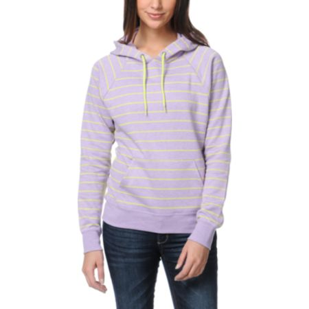 Volcom Girls Stoned With My Hoody Purple Pullover Hoodie