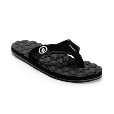 Volcom Recliner Creedler Black & White Sandals