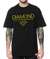 Diamond Supply White Space DMND Black Tee Shirt