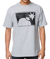 The Hundreds Forever Halfbomb Heather Grey Tee Shirt
