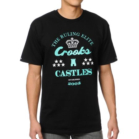 Crooks and Castles The Ruler Black Tee Shirt