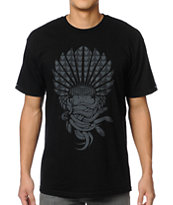 Crooks and Castles Mayan Medusa Black Tee Shirt