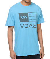 RVCA Flipped Box Blue Tee Shirt