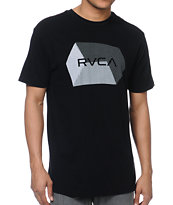 RVCA Polygon Black Tee Shirt