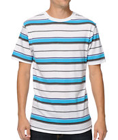 Zine Im Blue White & Blue Striped Tee Shirt