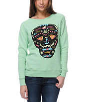 Glamour Kills Day Of The Living Mint Crew Neck Sweatshirt
