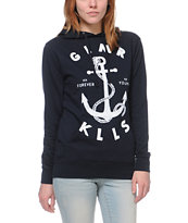 Glamour Kills Land Locked Navy Pullover Hoodie