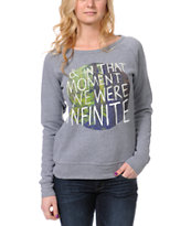 Glamour Kills In The Moment Grey Crew Neck Sweatshirt