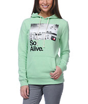 Glamour Kills Hunting To Feel Mint Pullover Hoodie