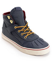 Project CANVAS Primary High Navy & White Canvas Skate Shoe