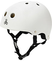 Triple Eight Brainsaver Matte White Rubber Skateboard Helmet