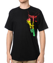 Casual Industrees Chairlift Black Rasta Tee Shirt