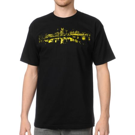 Casual Industrees Portland Skylight Black Tee Shirt