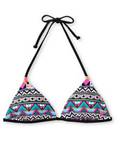 Hurley Girls Tribal Fusion Reversible Triangle Bikini Top